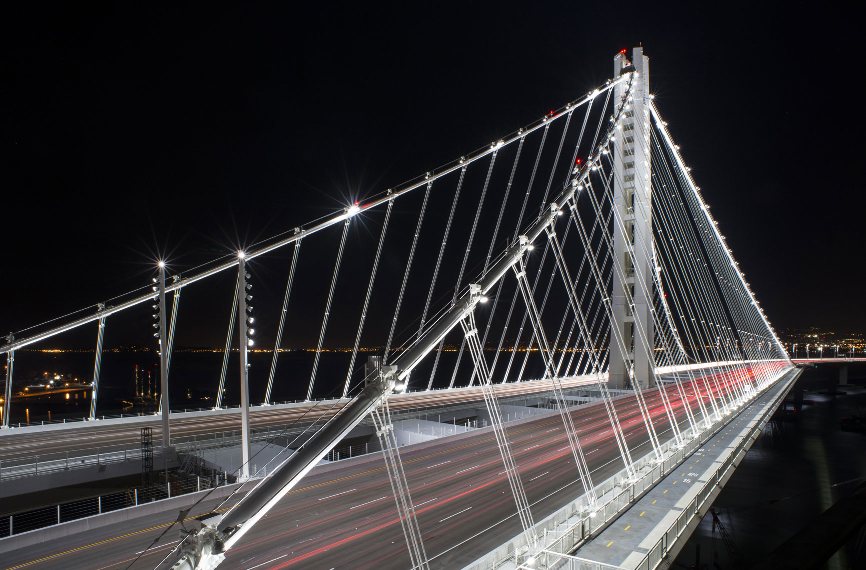The new Bay Bridge shortly after completion.